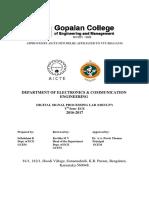 DSP vtu lab manual