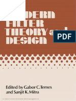 Filter theory and design .