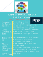 kids and social media parent night