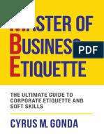Master of Business Etiquette - Cyrus M. Gonda