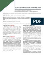 Artículo de Aguas Descargadas Por Industrias en David%2c Chiriquí