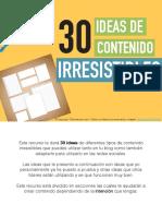 30 Ideas de Contenido