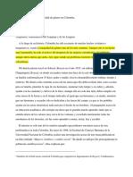La extensa lucha por los derechos de la mujer en Colombia.