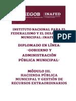 Módulo III. Hacienda Pública Municipal y Gestión de Recursos Extraordinarios