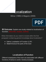 localization of function studies