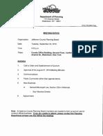 Jefferson County Planning Board agenda Sept. 24, 2019