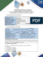 Guía de actividades y rúbrica de evaluación - Tarea 1 - Introducción a las funciones de varias variables.docx