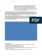 Competency Mapping is a Process Through Which One Assesses and Determines One