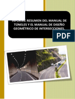 Resumen Manual de Tuneles y Diseño Geometrico de Carreteras