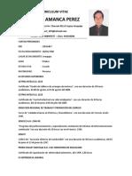 Currriculum Vitae1 (Robert Amanca Perez)