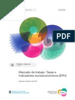 Mercado de trabajo. Tasas e ind. socioeconómicos 2°trim2019