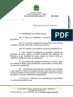 Projeto de Lei - Regulamentação da Psicanálise