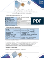 Guía de actividades y rúbrica de evaluación - Tarea 2 - Solución de modelos probabilísticos de decisión.pdf