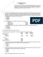 Intermediate Accounting I - Inventories