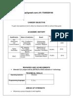 Resume Niveditha