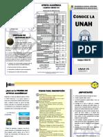 Trifolio Proyecto_CONOCE LA UNAH