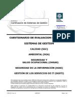 CUESTIONARIO DE EVALUACION PRELIMINAR SISTEMA DE GESTION