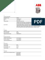Arrancador manual para motor marca ABB