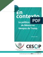 La política exterior de México en tiempos de Trump