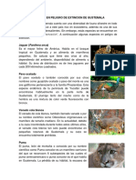 Animales en Peligro de Extincion de Gustemala