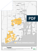 Aerial spraying map for Rhode Island's second spraying