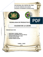 Informe Calidad de La Leche