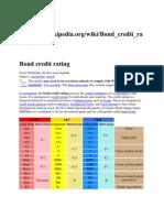 Information of Credit Rating grades