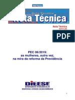 Nota técnica - PEC INSS