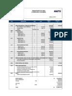 Presupuesto de Obra de Edificio Multifamiliar