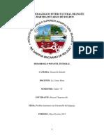 Informe Sobre El Desarrollo Del Lenguaje