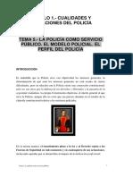 Modulo 1 - Tema 5 - La Policia Como Servicio Publico