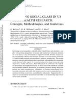 Krieger Et Al. - 1997 - Measuring Social Class in US Public Health Researc