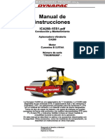Manual Operacion Mantenimiento Apisonadora Vibratoria Ca260 Dynapac