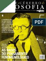 Coleção Mente Cérebro & Filosofia Nº 05 - As Bases Do Pensamento Fenomenológico - Sartre, Husserl e Merleau-Ponty