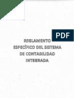 Reglamento Especifico Sistema Contabilidad Integrada