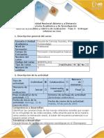 Guía de Actividades y Rùbrica de Evaluación - Fase 3 - Entregar Informe en Lino