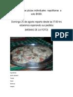Venta de Ricas Pizzas Individuales Napolitanas a Solo