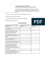Continuing Competence Worksheet