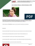 Articulos Sobre Prostitucion de Beatriz Gimeno Activista Feminista y Lgtb - 29-04-2015