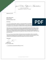 Shreveport Police Officers' Association Letter