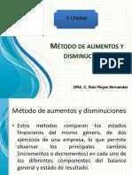 5 Unidad Método de Aumentos y Disminuciones.
