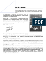 Transformations de Lorentz