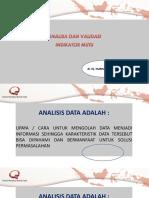 Analisa Dan Validasi Data