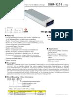 3200W PFC Rack Mountable Front End Battery Charger for SLA & Li-Ion Batteries 27.6V 110A