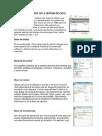 Partes y Funciones de La Ventana de Excel