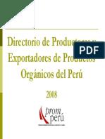 Directorio de Empresas Organicas 2008 Peru