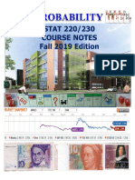STAT 230 Course Notes Fall 2019