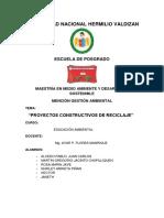 PROYECTOS CONSTRUCTIVOS RECICLAJE