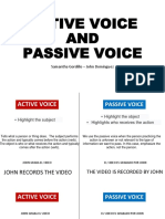 Active Voice and Passive Voice Final