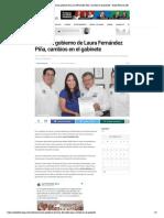 Anuncia gobierno de Laura Fernández Piñ...bios en el gabinete